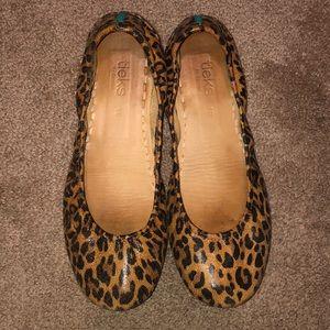 Cheetah printed Tieks